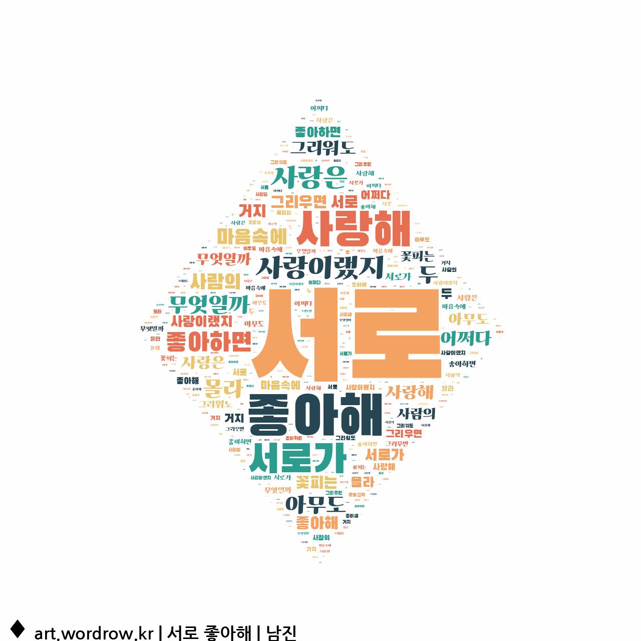 워드 아트: 서로 좋아해 [남진]-24